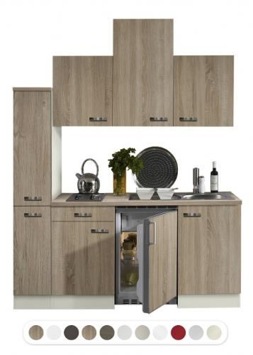 Optifit kleine Küche mit Kühlschrank, 180 cm breit