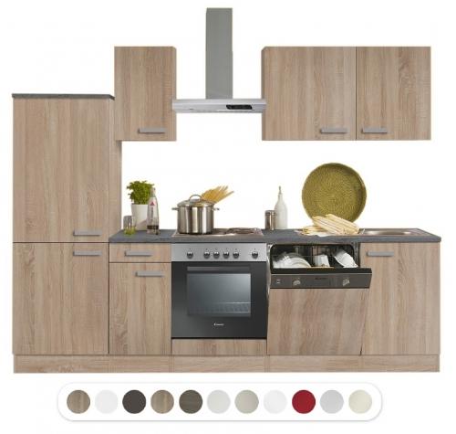 Optifit küchenzeile mit e geräte breite 270 cm