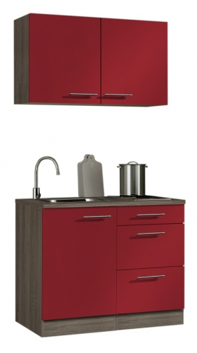 optifit minik che rot mit e ger te breite 100 cm. Black Bedroom Furniture Sets. Home Design Ideas