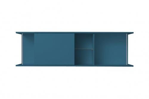 OPTIFIT Oberschrankregal offen mit 50er Schiebeelement, Opal matt, Breite 150 cm