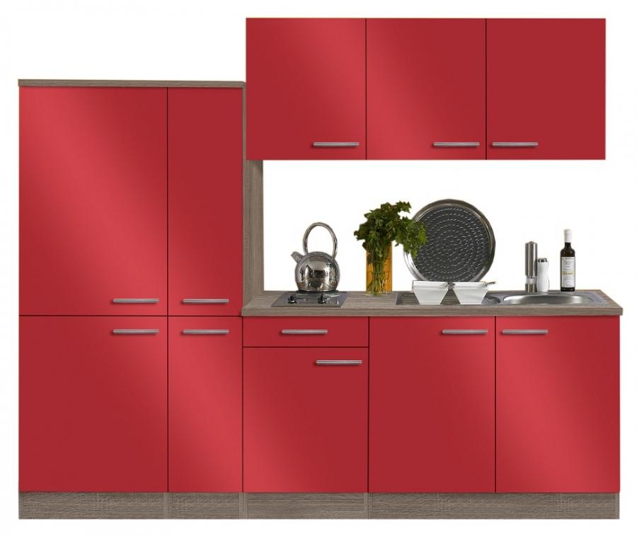 Optifit kuche mit kuhlschrank breite 240 cm for Optifit küchen
