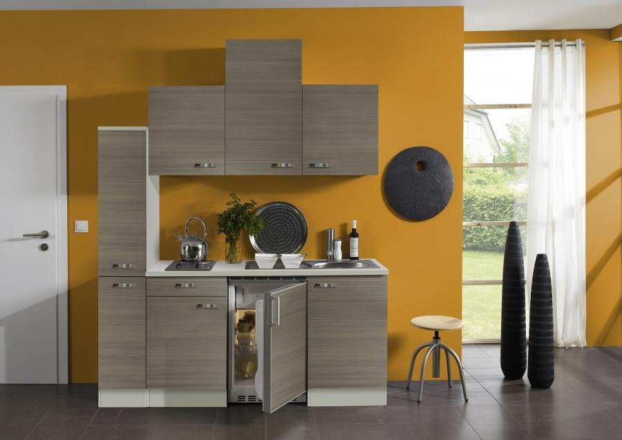 Miniküche Mit Kühlschrank 180 Cm : Optifit küche pinie mit kühlschrank cm breit