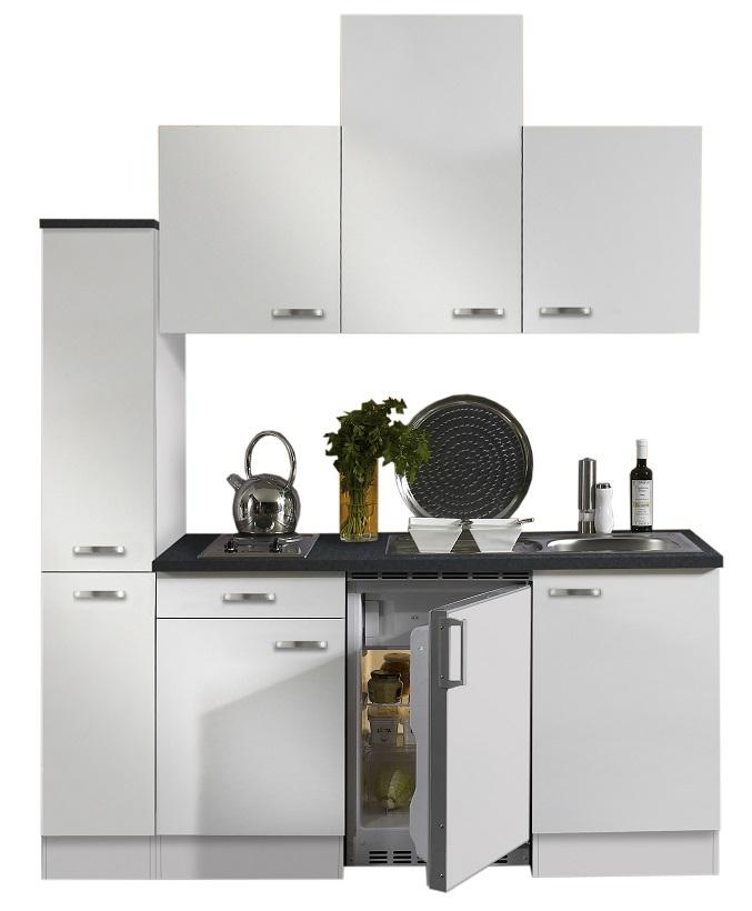 optifit k che wei mit k hlschrank 180 cm breit. Black Bedroom Furniture Sets. Home Design Ideas