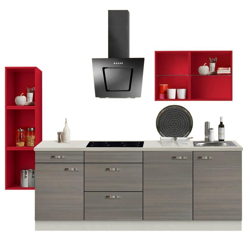 optifit singlek che pinie mit e ger te breite 242 cm. Black Bedroom Furniture Sets. Home Design Ideas