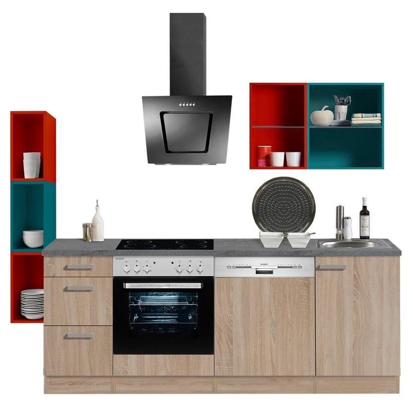 optifit singlek che eiche mit e ger te breite 229 cm. Black Bedroom Furniture Sets. Home Design Ideas