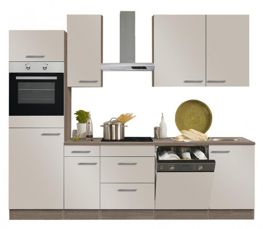 Optifit Küchenzeile Beige, ohne E-Geräte, Breite 270 cm