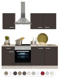 Optifit Küchenzeile mit E-Geräte, Breite 210 cm