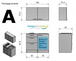 Optifit Miniküche mit E-Geräte »Genf«, Breite 100 cm