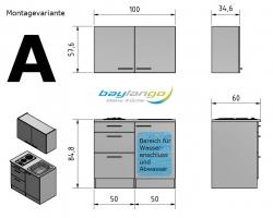 Optifit Miniküche mit E-Geräte »Neapel«, Breite 100 cm