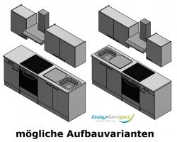 Optifit Küchenzeile mit E-Geräte »Imola«, Breite 210 cm, rot