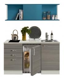 OPTIFIT Singleküche »Mini« mit E-Geräte, Breite 150 cm Blau »Vigo«