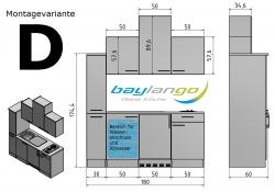 Optifit Singleküche »Mini«, Breite 180 cm, mit E-Geräte »Padua«