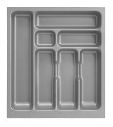 Singleküche BARCELONA - mit Elektro-Kochfeld - Breite 190 cm - Grau - »Faro«