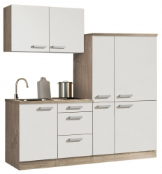 Optifit Singleküche »Mini«, Breite 190 cm, mit E-Geräte »Zamora«