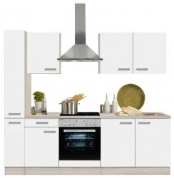 Optifit Küchenzeile mit Apothekerschrank und E-Geräte »Genf«, Breite 240 cm