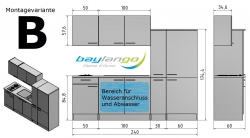 Optifit Küchenzeile mit E-Geräte »Faro«, Breite 240 cm
