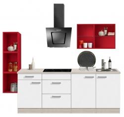 OPTIFIT Singleküche »Mini« inkl. E-Geräten, Breite 242 cm, »Genf«
