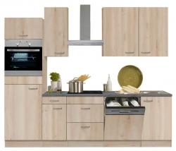 Optifit Küchenzeile ohne E-Geräte »Elba«, Breite 270 cm, Buche