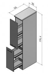 OPTIFIT Apothekerschrank »Oslo«, weiß, Breite 30 cm