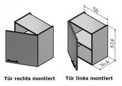 OPTIFIT Hängeschrank »Oslo«, weiß, Breite 50 cm