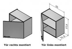 OPTIFIT Hängeschrank »Oslo«, weiß, Breite 60 cm