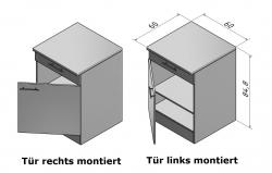 OPTIFIT Unterschrank »Arta«, beige Seidenglanz, Breite 60 cm