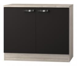 OPTIFIT Spülenschrank »Faro«, grau, Breite 100 cm