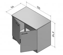 OPTIFIT Spülenschrank »Vigo«, Pinie, Breite 100 cm