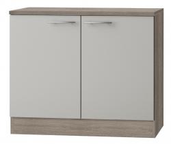 OPTIFIT Spülenschrank »Arta«, beige Seidenglanz, Breite 100 cm