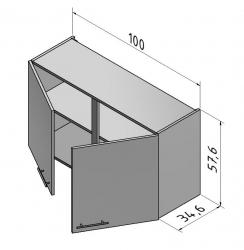 OPTIFIT Hängeschrank »Oslo«, weiß, Breite 100 cm