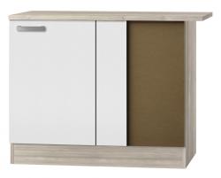 OPTIFIT Eckunterschrank »Genf«, weiß, Breite 110 cm