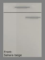 OPTIFIT Eckunterschrank »Arta«, beige Seidenglanz, Breite 110 cm