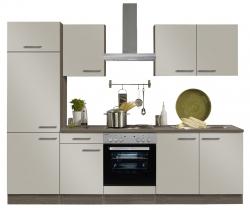 Optifit Küchenzeile mit E-Geräte »Arta«, Breite 270 cm, beige Seidenglanz