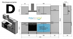 Optifit Küchenzeile ohne E-Geräte »Lagos«, Breite 270 cm, weiß Seidenglanz