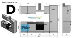 Optifit Küchenzeile mit E-Geräte »Vigo«, Breite 270 cm, Pinie