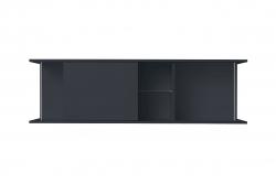 OPTIFIT Oberschrankregal offen mit 50er Schiebeelement, Anthrazit, Breite 150 cm