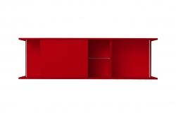 OPTIFIT Oberschrankregal offen mit 50er Schiebeelement, Rot matt, Breite 150 cm