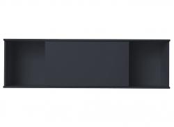 OPTIFIT Oberschrankregal offen mit 75er Schiebeelement, Anthrazit, Breite 150 cm