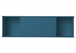 OPTIFIT Oberschrankregal offen mit 75er Schiebeelement, Opal matt, Breite 150 cm