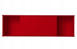 OPTIFIT Oberschrankregal offen mit 75er Schiebeelement, Rot matt, Breite 150 cm