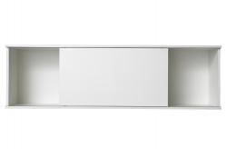 OPTIFIT Oberschrankregal offen mit 75er Schiebeelement, Weiß, Breite 150 cm