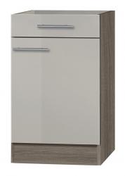 OPTIFIT Unterschrank »Arta« ohne Arbeitsplatte, beige Seidenglanz, Breite 50 cm