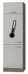 OPTIFIT Maxi-Kühlumbauschrank »Arta«, beige Seidenglanz, Breite 60 cm
