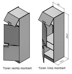 OPTIFIT Maxi-Kühlumbauschrank »Faro«, grau, Breite 60 cm