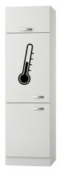 OPTIFIT Maxi-Kühlumbauschrank »Lagos«, weiß Seidenglanz, Breite 60 cm