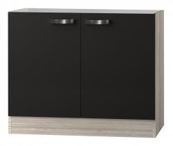 OPTIFIT Spülenschrank ohne Arbeitsplatte »Faro«, grau, Breite 100 cm