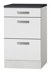 OPTIFIT Schubladen-Unterschrank »Oslo«, weiß, Breite 50 cm