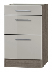 OPTIFIT Schubladen-Unterschrank ohne Arbeitsplatte »Arta«, beige Seidenglanz, Breite 50 cm