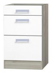 OPTIFIT Schubladen-Unterschrank ohne Arbeitsplatte »Genf«, weiß, Breite 50 cm