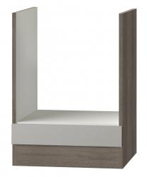OPTIFIT Herdumbauschrank ohne Arbeitsplatte »Arta«, beige Seidenglanz, Breite 60 cm